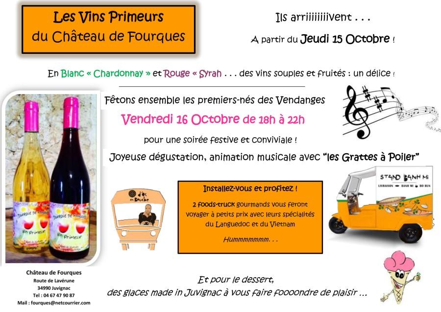Soirée vins primeurs au Château de Fourques
