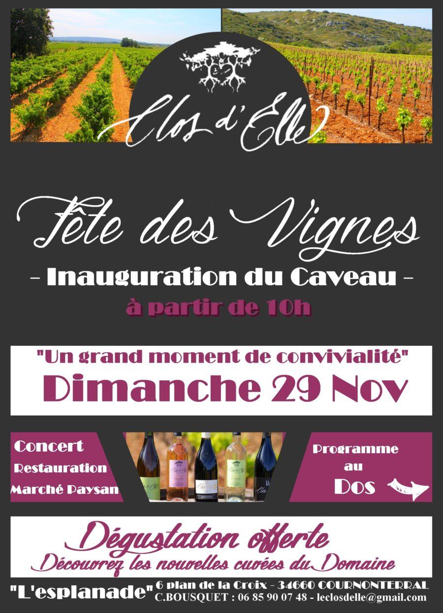 Fête des vignes au Clos d'Elle dimanche 29 novembre