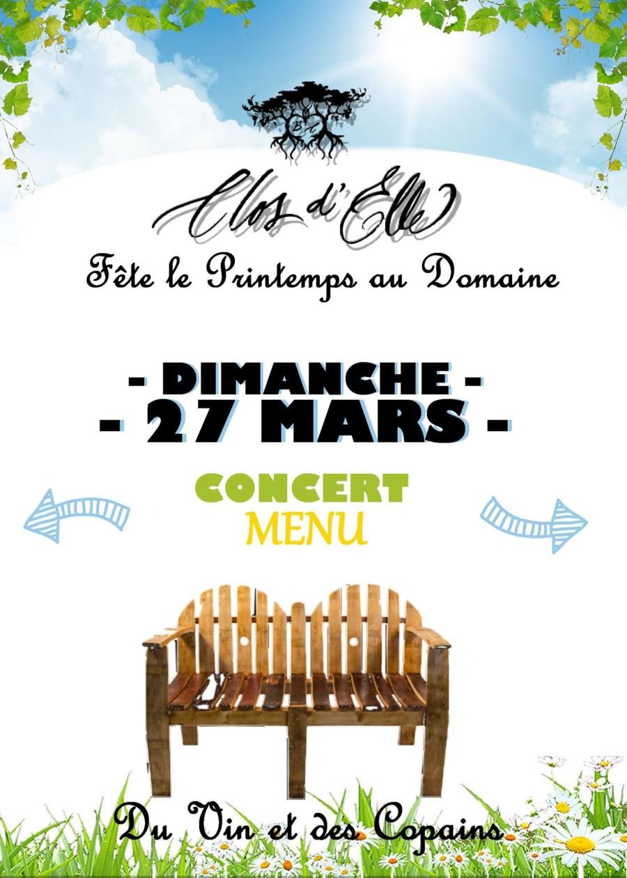 Du vin et des copains au Clos d'Elle le dimanche 27 mars