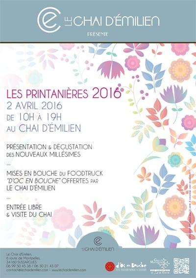 Les printanières 2016 du Chai d'Émilien