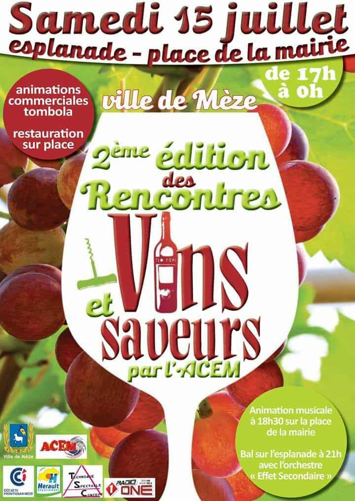 Rencontres 2017 vins et saveurs de l'ACEM à Mèze