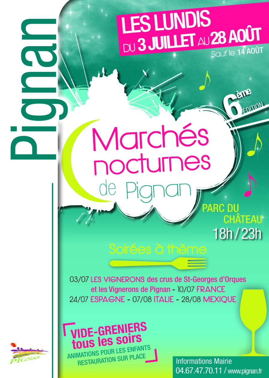 Marché nocturne de Pignan le lundi 31 juillet