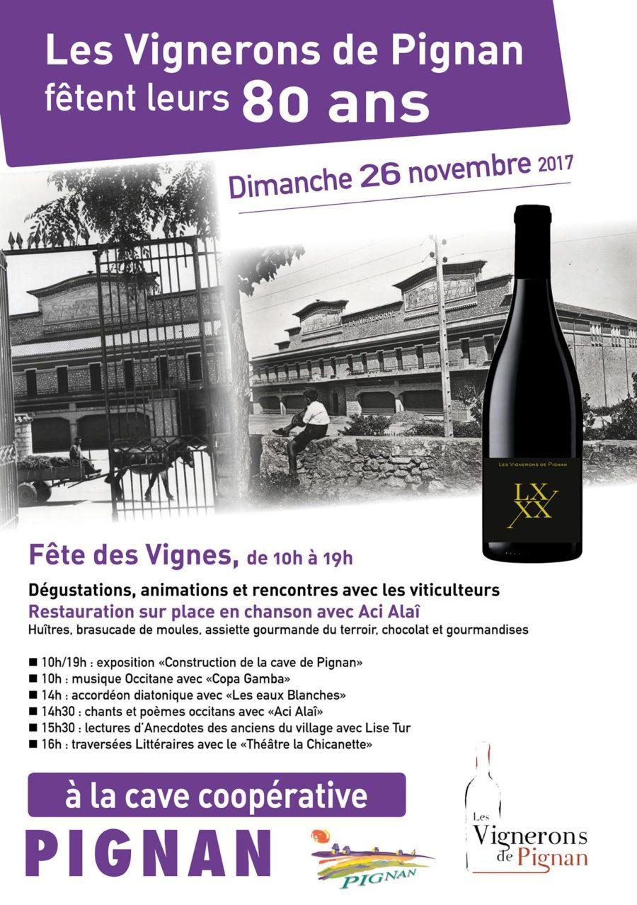 Les vignerons de Pignan fêtent leurs 80 ans
