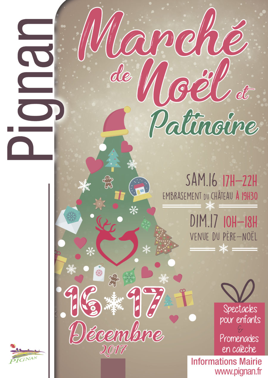 Marché de Noël de Pignan les 16 et 17 décembre 2017