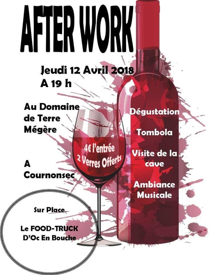 Soirée afterwork en Terre Mégère ce jeudi 12 avril