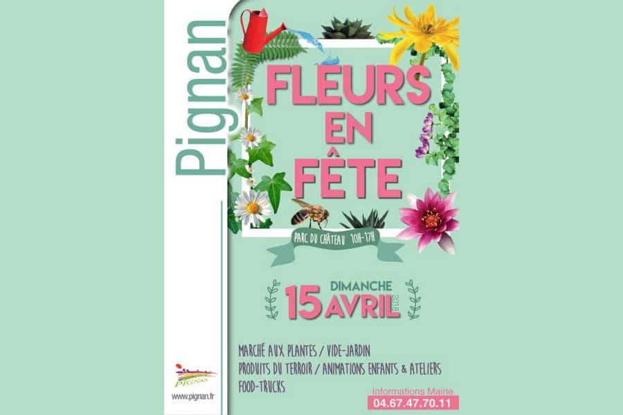 3e édition de Fleurs en Fête à Pignan dimanche 15 avril