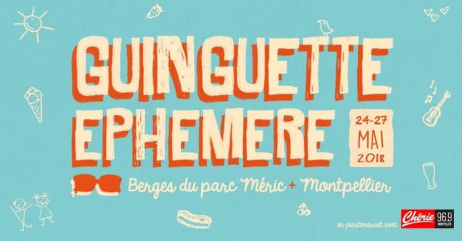 Ginguette éphémère sur les bords du Lez à Montpellier
