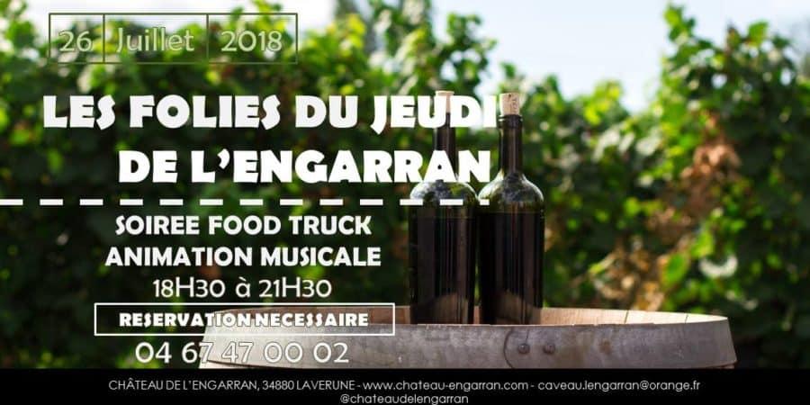 Les Folies du Jeudi du Château de l'Engarran le 26 juillet