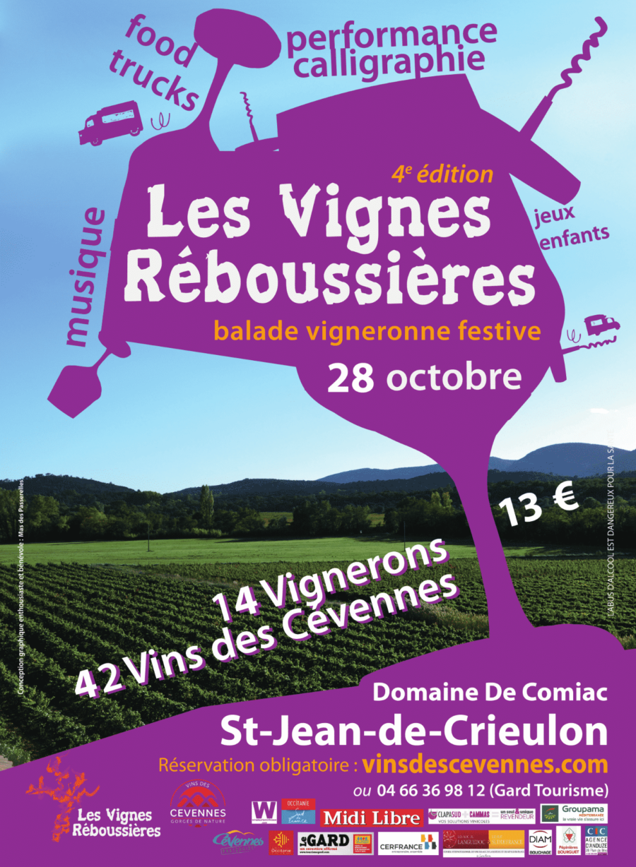 Les Vignes Réboussières 2018, balade automnale en Cévennes