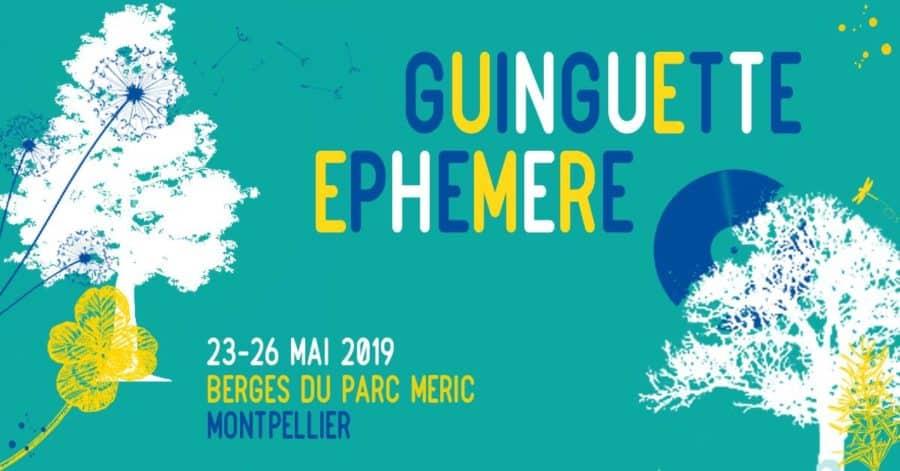 Guinguette éphémère sur les berges du Parc Méric à Montpellier