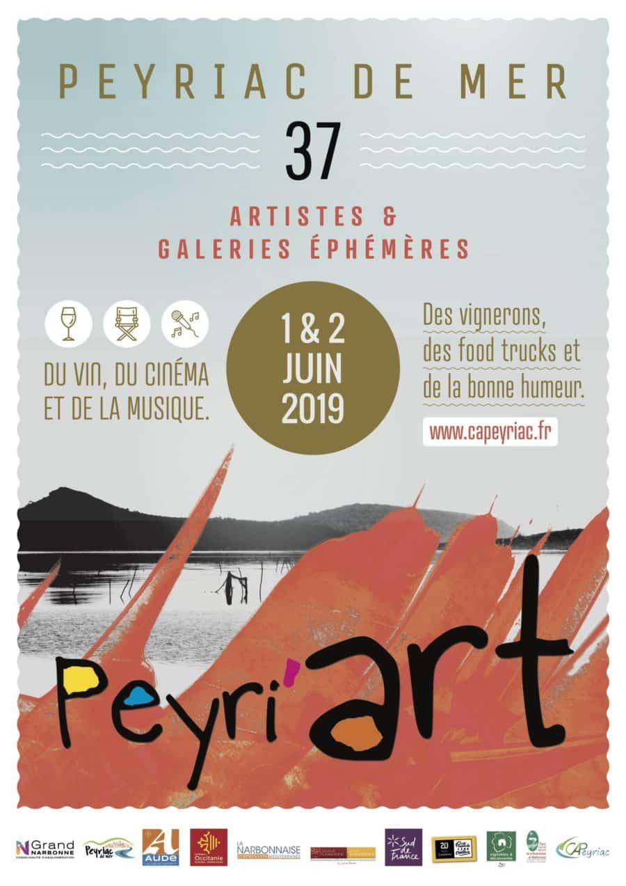 Festival Peyri'Art 2019 les 1er et 2 juin à Peyriac-de-Mer