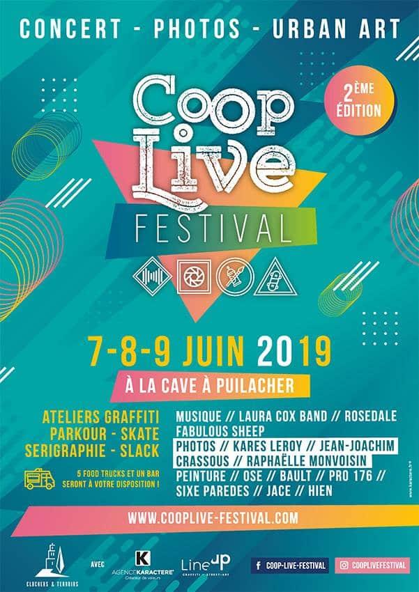 Coop Live Festival les 7, 8 et 9 juin 2019 à Puilacher
