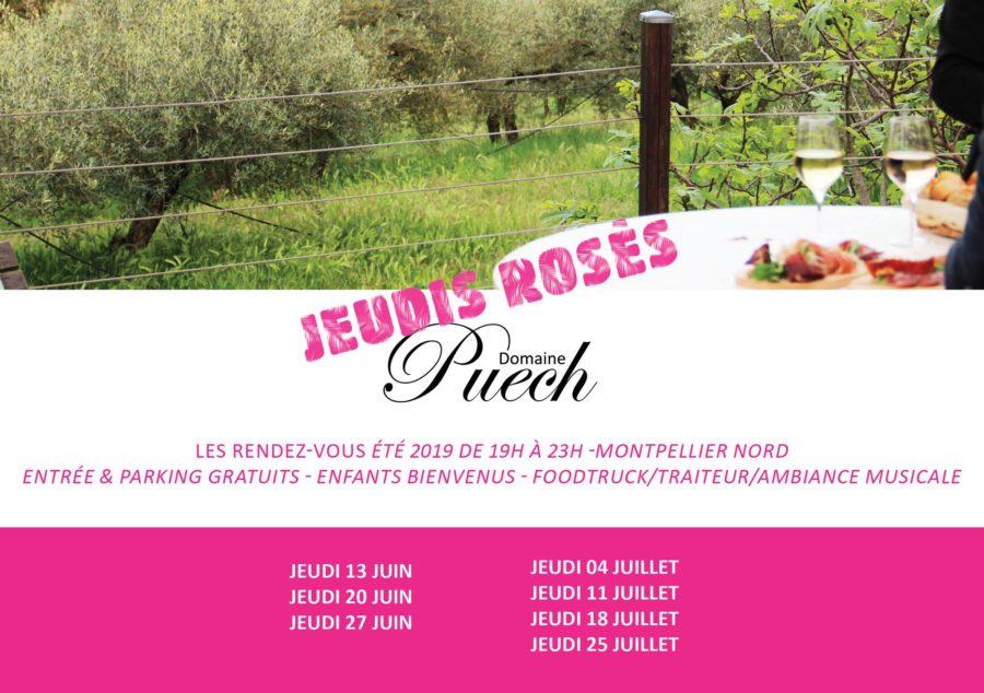 Les jeudis rosés du Domaine Puech le 20 juin à Saint-Clément-de-Rivière