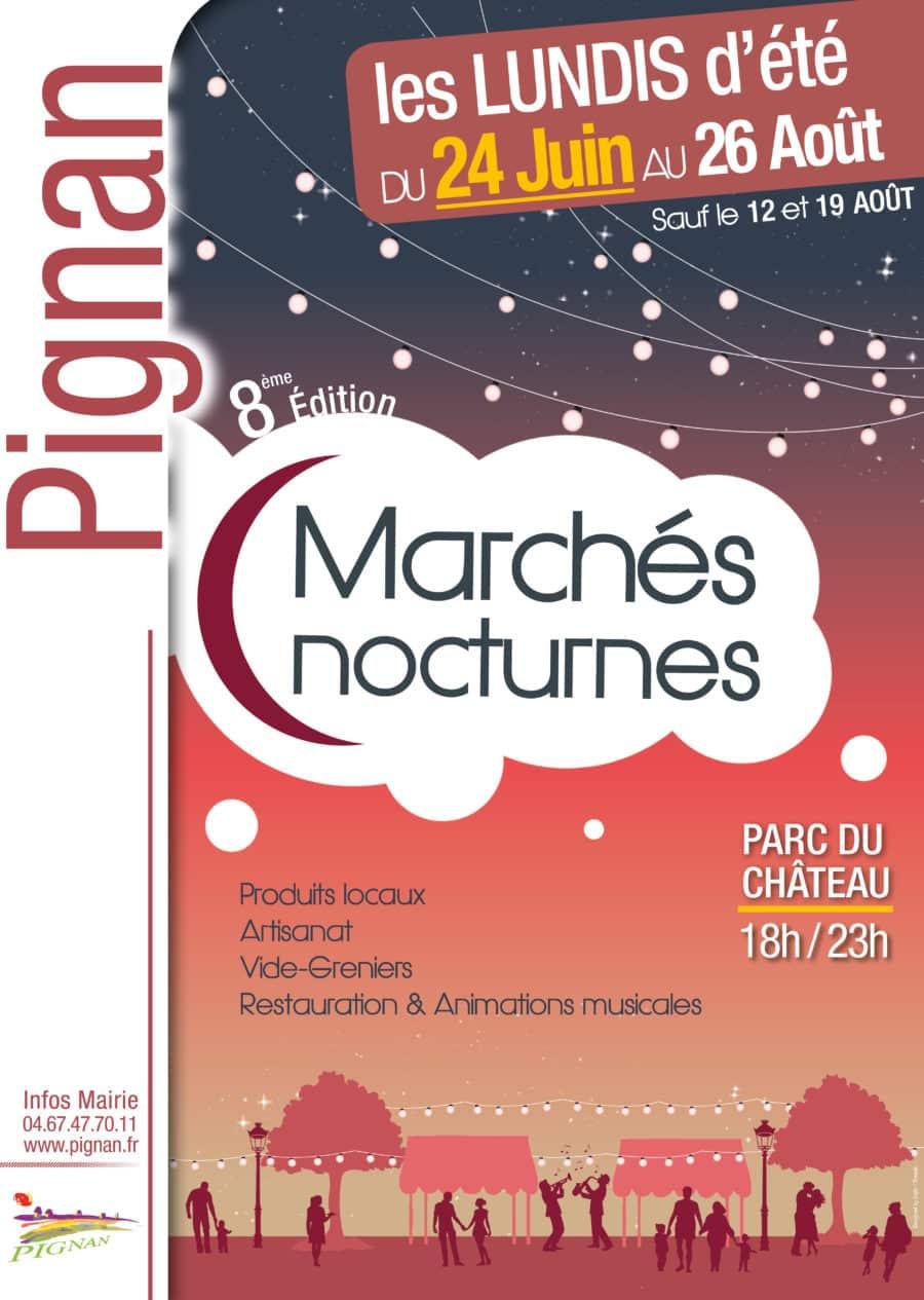 Les marchés nocturnes 2019 de Pignan débutent le lundi 24 juin