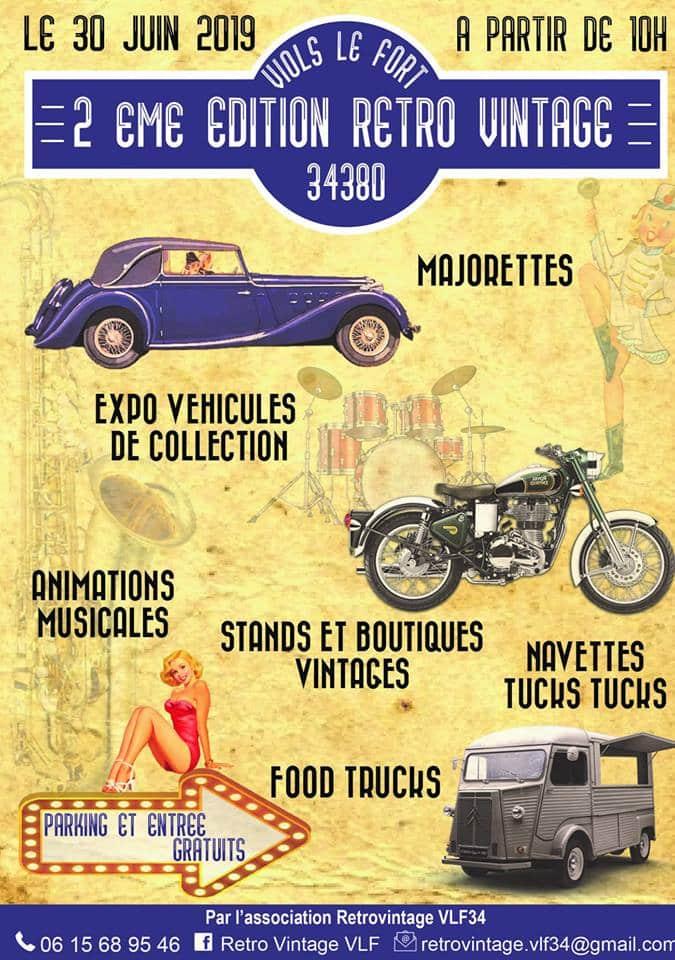 2ème édition du RétroVintage de Viols-le-Fort le dimanche 30 juin 2019
